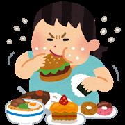 食べ過ぎ女性